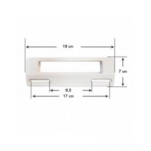 Poignée De Porte De Rechange Pour Réfrigérateur Standard, Blanc (Blanco-I)